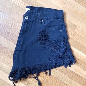 Ecote Heavy Distressed Frayed Cutoff Shorts